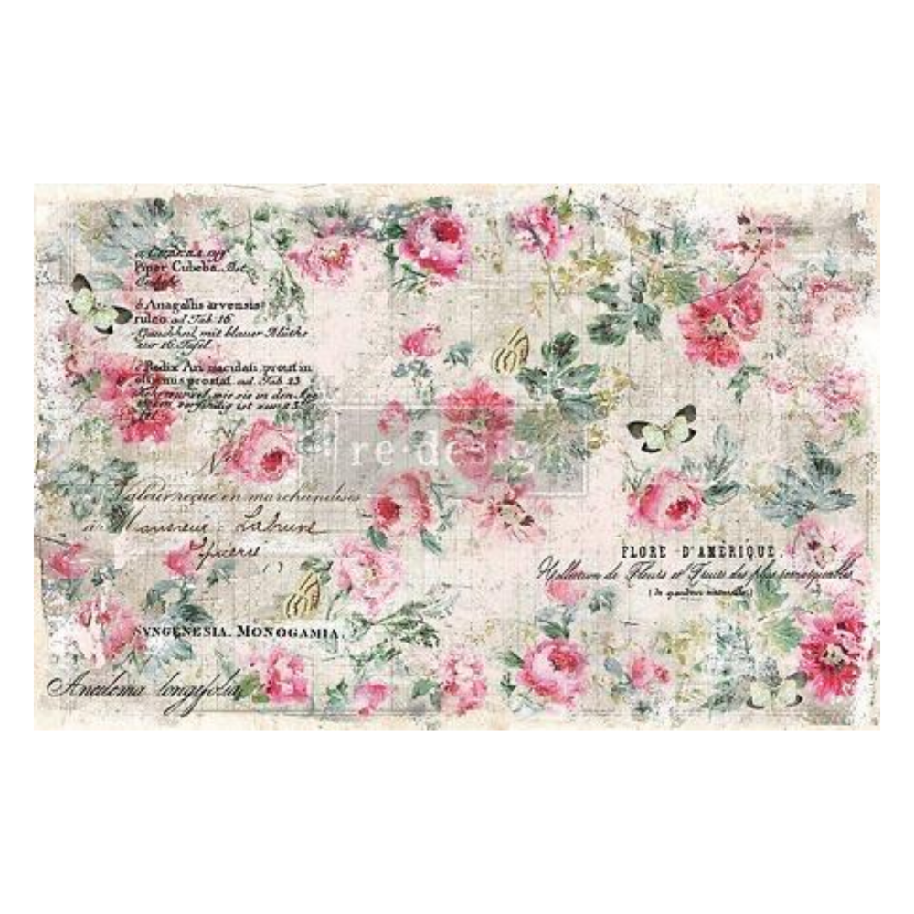 Decoupage Tissue Paper - Floral Wallpaper