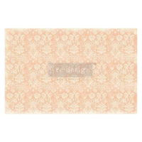 Decoupage Tissue Paper - Peach Damask