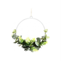 Wreath - Wire and Eucalyptus