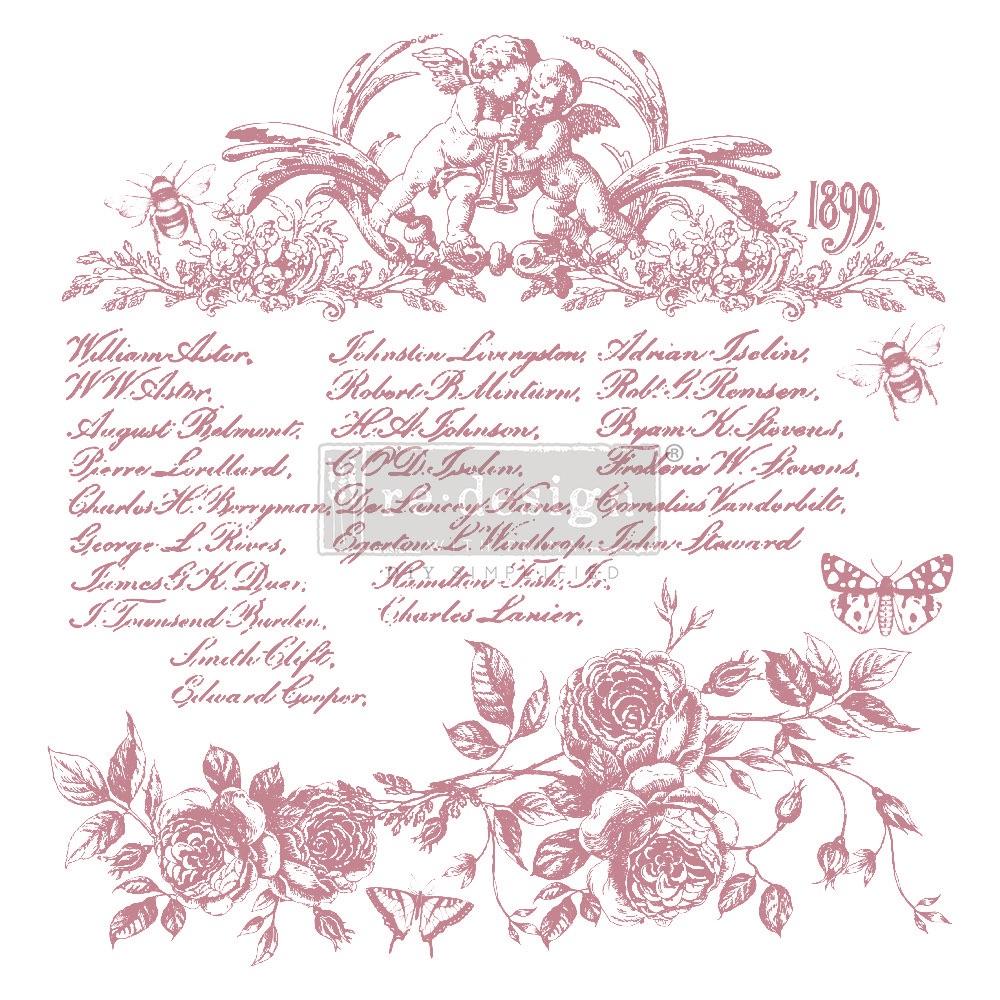 Décor Stamp - Floral Script