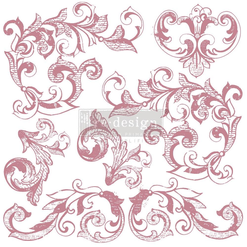 Decor Stamp - Elegant Scrolls
