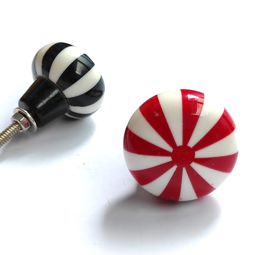 Knobs - Candy Stripe