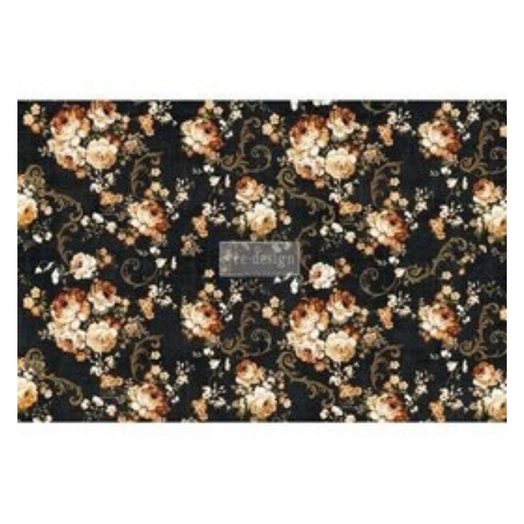 Decoupage Tissue Paper - Dark Floral