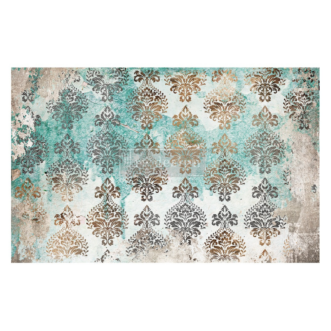 Decoupage Tissue Paper - Patina Flourish