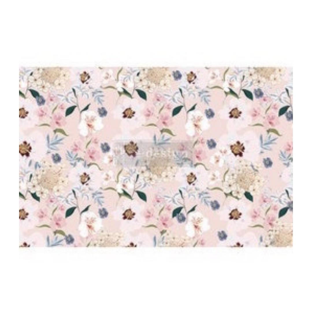 Decoupage Tissue Paper - Blush Floral
