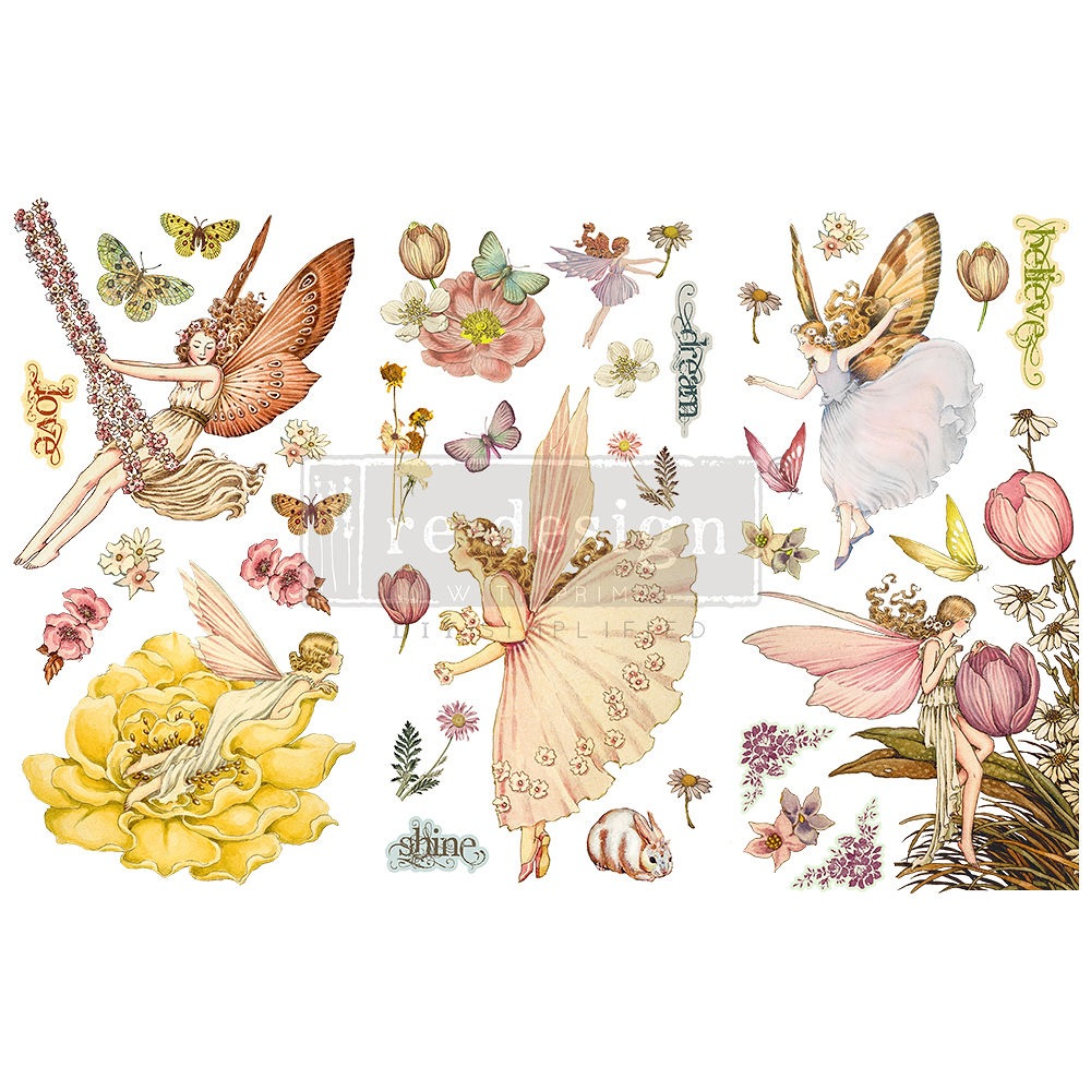 Decor Transfer - Fairy Flowers (Small)