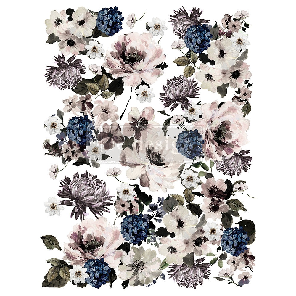 Decor Transfer - Dark Floral