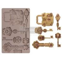 Decor Mould - Mechanical Lock and Keys