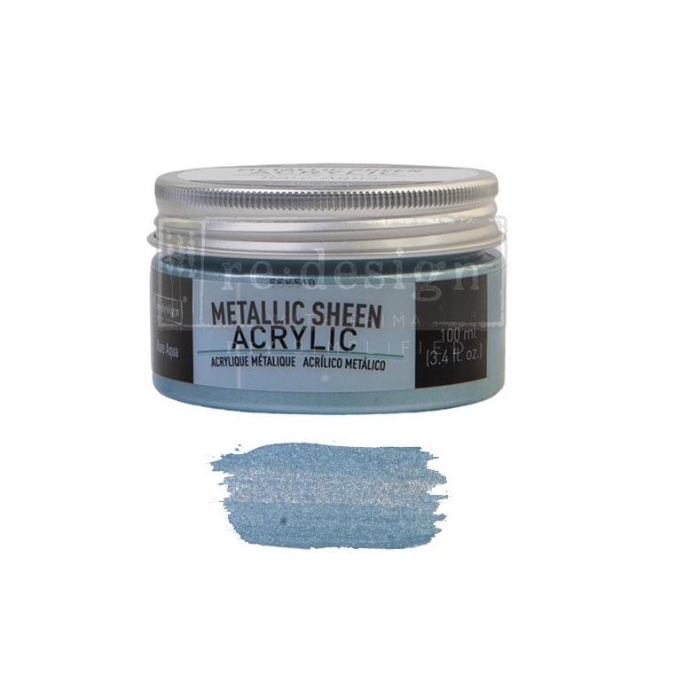 Metallic Sheen - Rare Aqua