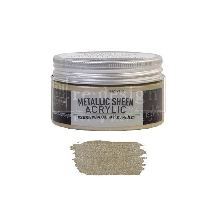 Metallic Sheen - Brushed Champagne