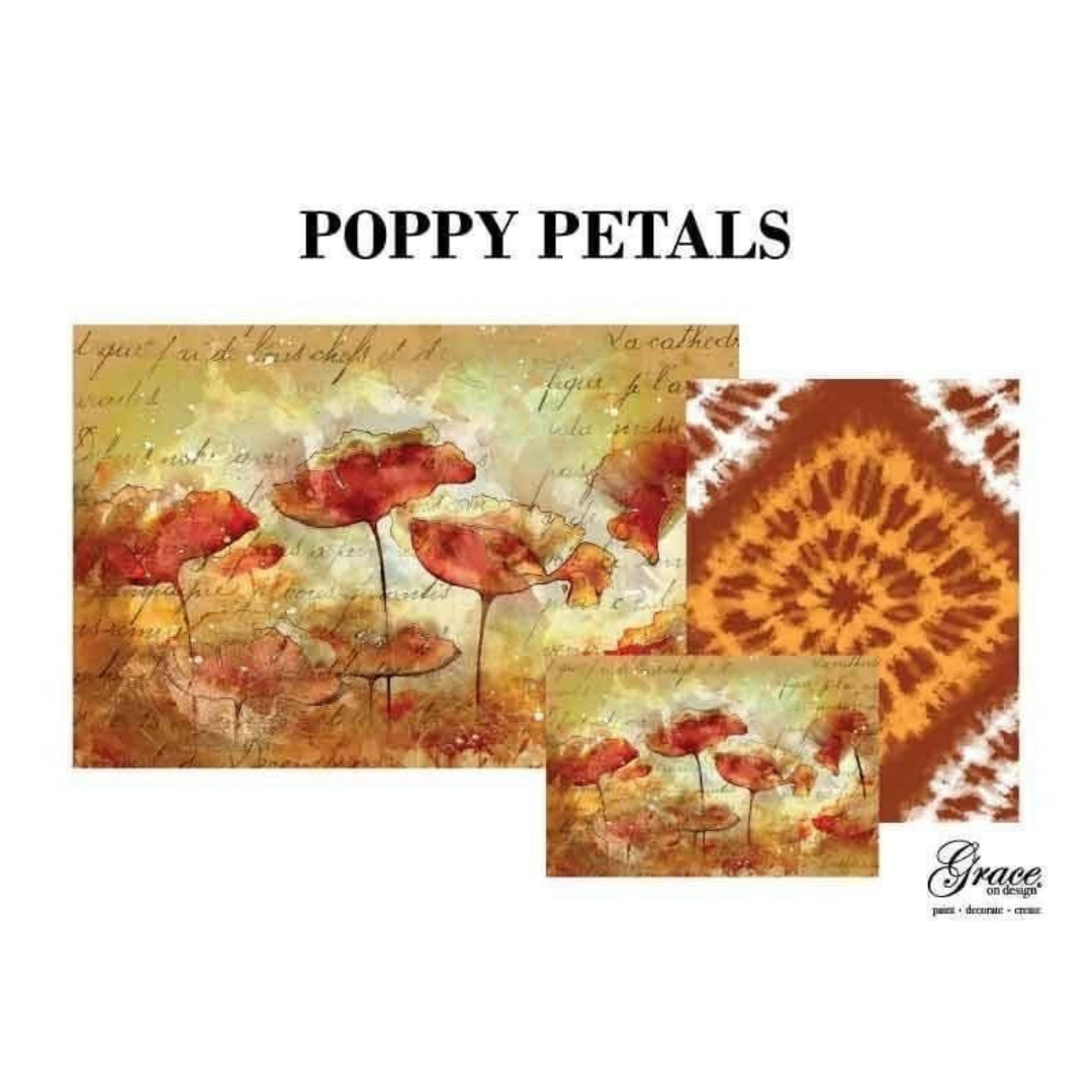 Decoupage Set - Poppy Petals
