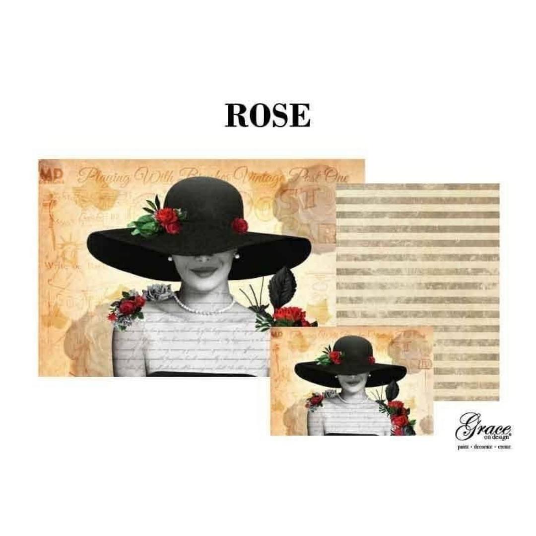 Decoupage Set - Rose