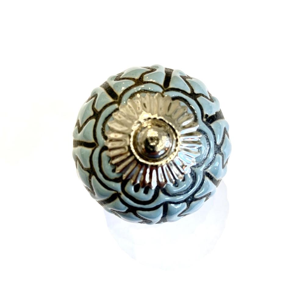 Knobs - Blue Ceramic