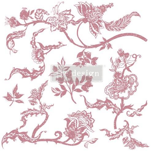Decor Stamp - Distressed Floral Prints