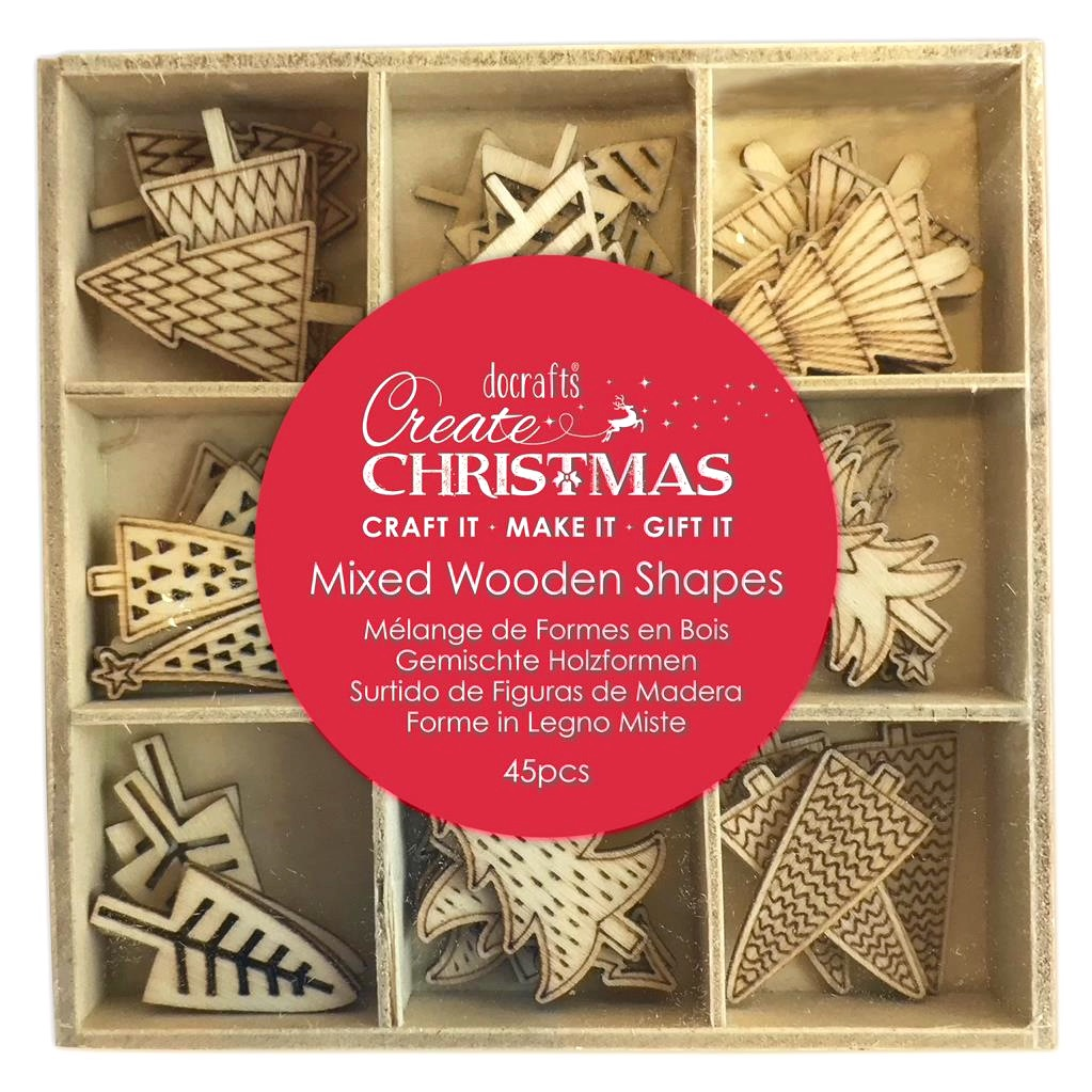 Wooden Shapes - Christmas Trees