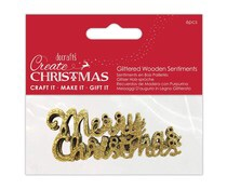 Merry Christmas Wooden Sentiments