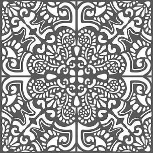 Stencil - Azulejos Tile (Circle) by Stamperia