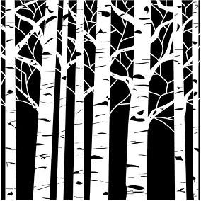 Stencil - Aspen Trees