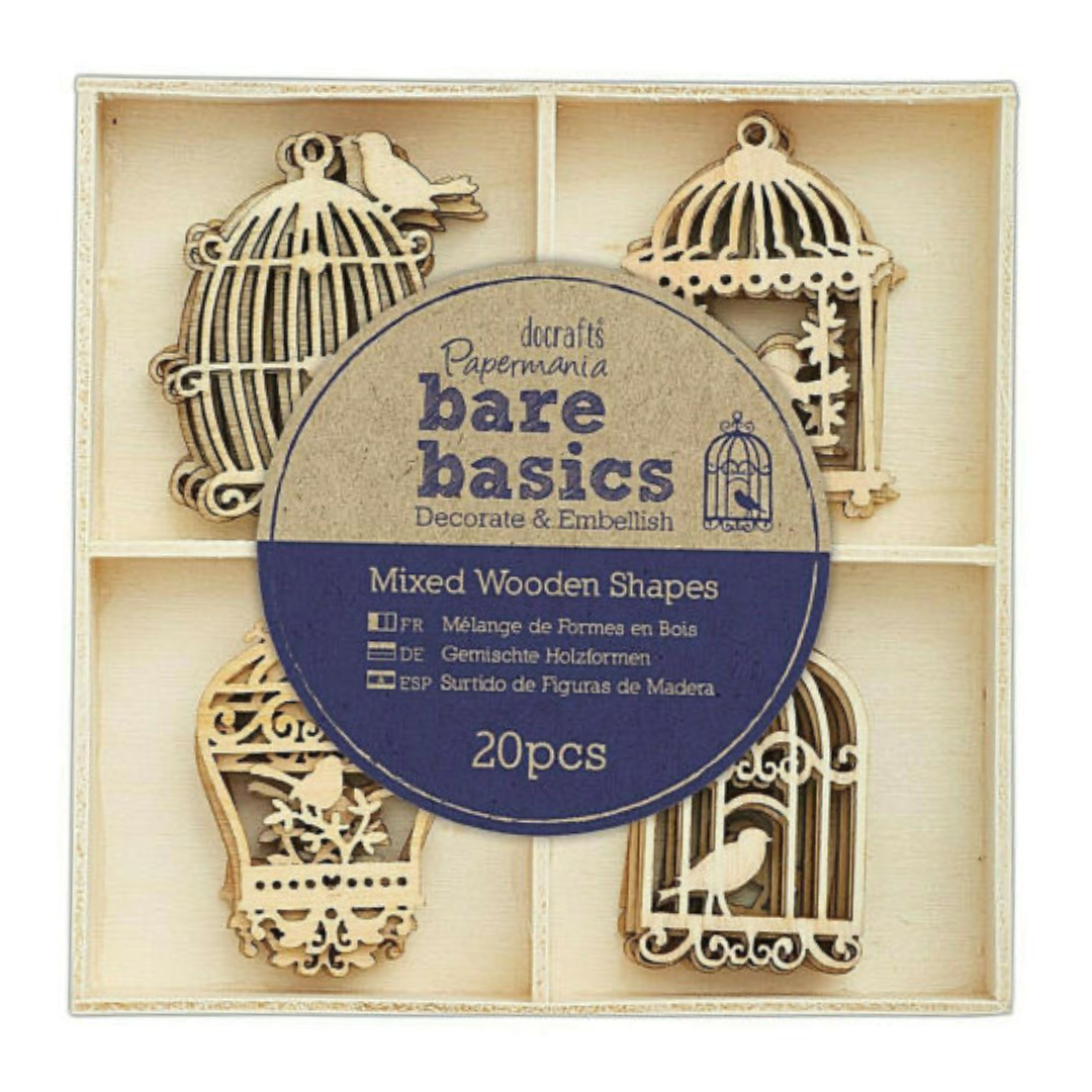 Wooden Shapes - Bird Cages