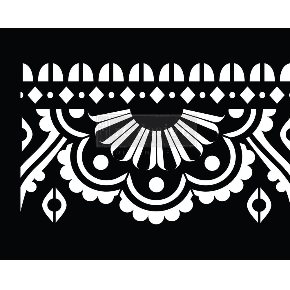 Stencil - Mendhi Border