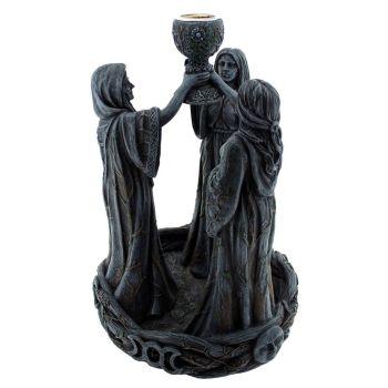 Mother Maiden & Crone Backflow Incense Burner 18cm