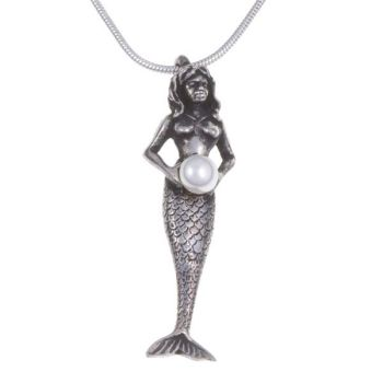 Mermaid Pearl Pendant by St Justin of Penzance