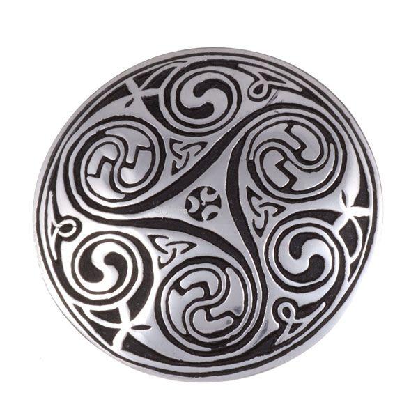 Kells Key Spiral Brooch