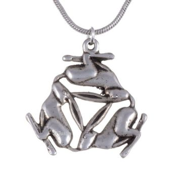 3 Hares Pendant by St Justin of Penzance