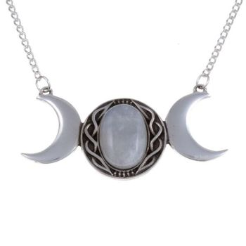 Triple Moon Necklace by St Justin of Penzance