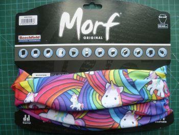 Morf Neck tube Rainbows and Unicorns Print