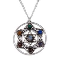 Chakra Star Pendant by St Justin of Penzance