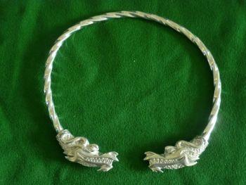 Beautiful Dragon Viking Neck Torc Jormugandr