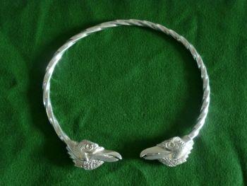 Beautiful Ravens Viking Neck Torc Hugin & Munin