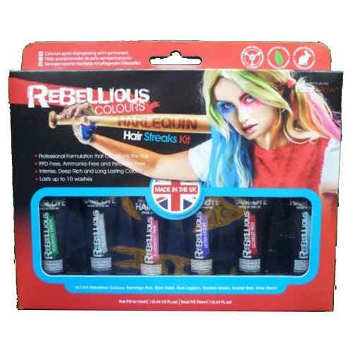 Rebellious Hair Streaks Kit - Harlequin