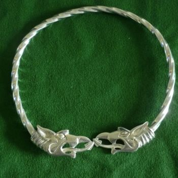 Beautiful Dreki Dragon Viking Neck Torc *WWPE Exclusive* by St Justin of Penzance