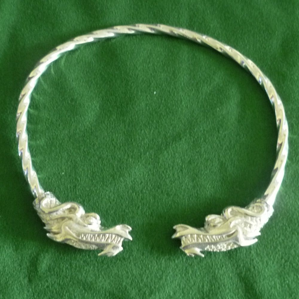 Beautiful Dragon Viking Neck Torc Jormugandr