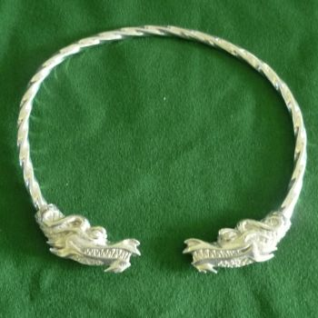 Beautiful Jormugandr Dragon Viking Neck Torc *WWPE Exclusive* by St Justin of Penzance