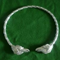Beautiful Ravens Hugin & Munin Viking Neck Torc *WWPE Exclusive* by St Justin of Penzance
