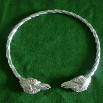 Beautiful Ravens Hugin & Munin Viking Neck Torc *WWPE Exclusive* by St Justin of Penzance