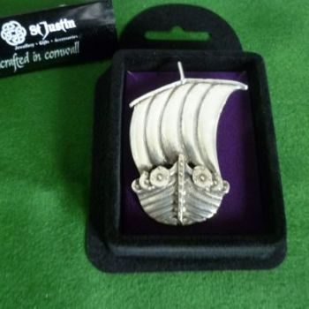 Viking Ship Brooch *WWPE Exclusive* by St Justin of Penzance