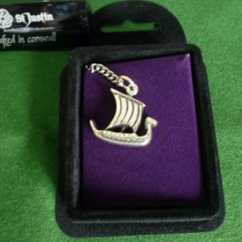 Viking Ship Keyring *WWPE Exclusive* by St Justin of Penzance
