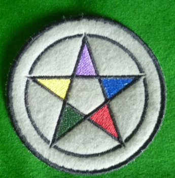 Patch - PENTACLE. Embroidered sew-on patch