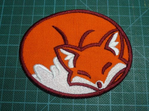 Patch - SLEEPING FOX. Embroidered sew-on patch