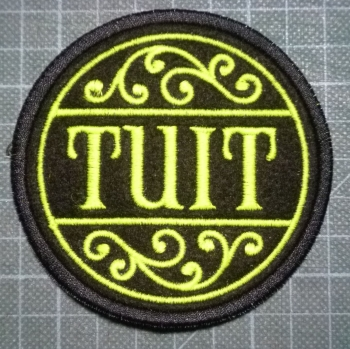 Patch - A ROUND TUIT. Embroidered sew-on patch