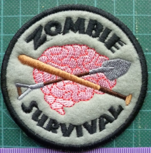 Patch - ZOMBIE SURVIVAL. Embroidered sew-on patch