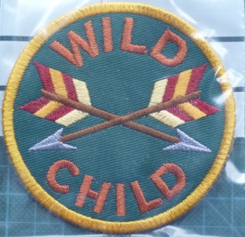 Patch - WILD CHILD. Embroidered sew-on patch