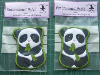 Patch - PANDA. Embroidered sew-on patch