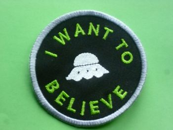 Patch - UFO. Embroidered sew-on patch