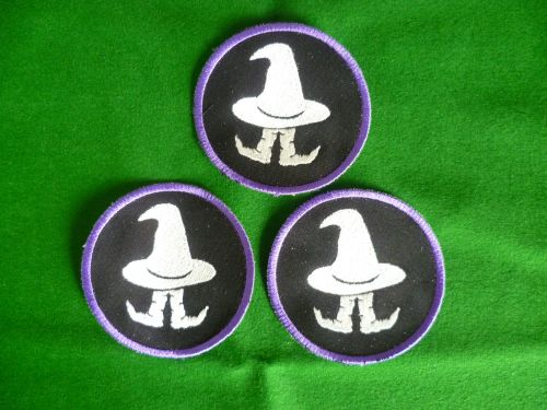 Patch - WHITE WIZARD PURPLE ELF. Embroidered sew-on patch