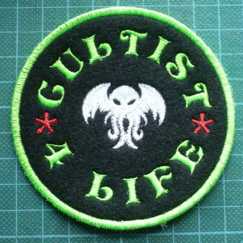 Patch - CULTIST CTHULHU. Embroidered sew-on patch